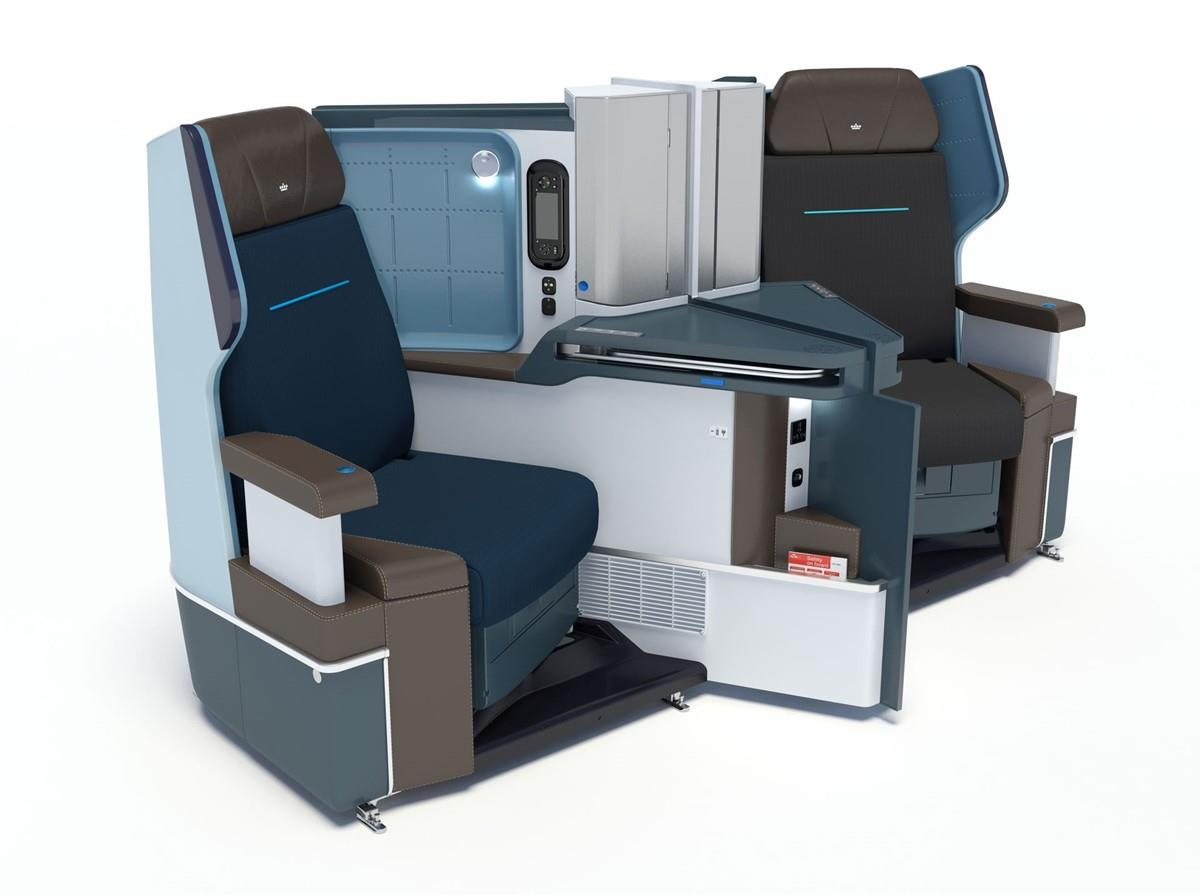KLM 787 Business Class Seating